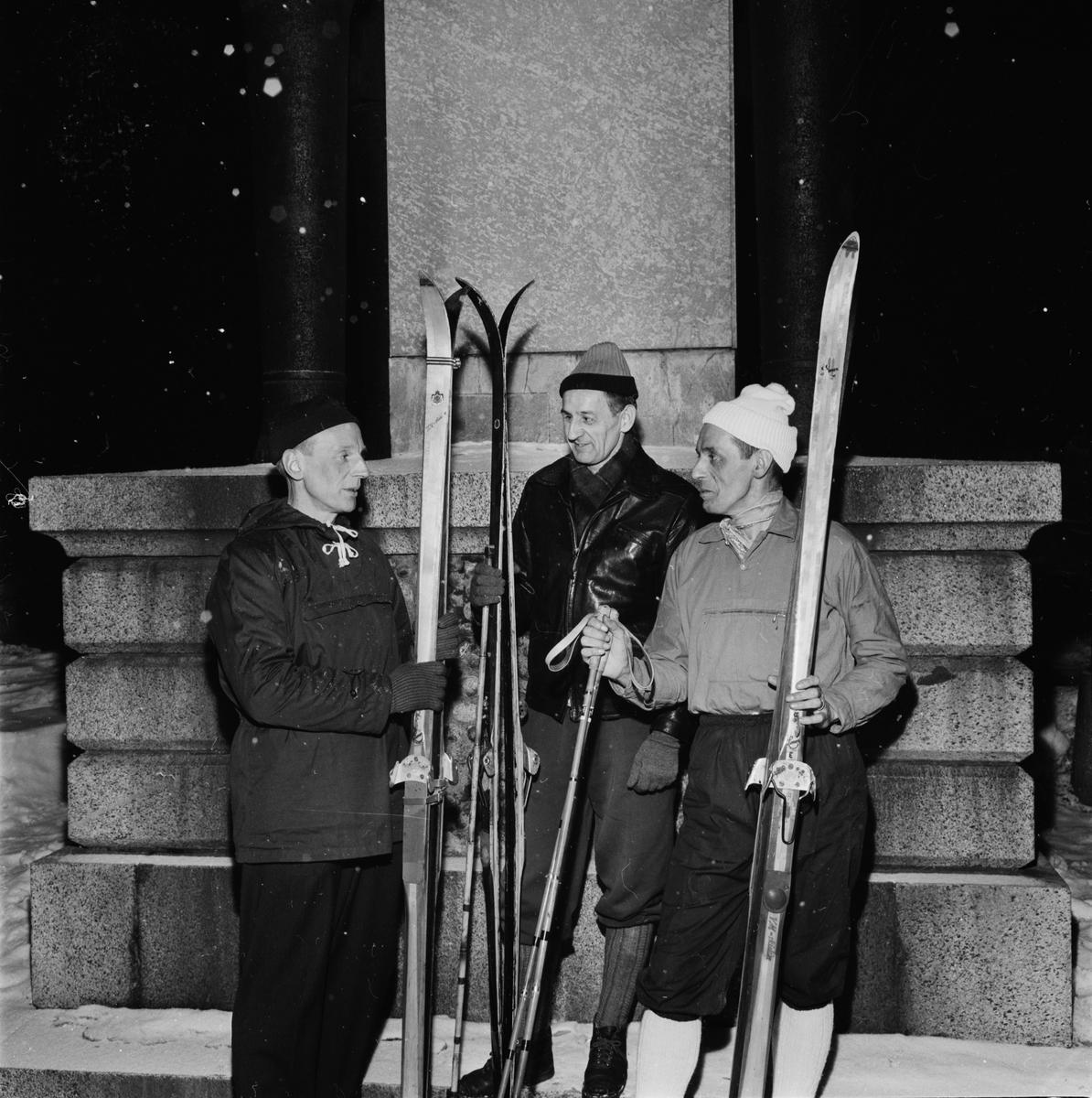 """Skidåkning - """"uppländsk släkttrio i Vasaloppet"""", Uppsala 1962"""