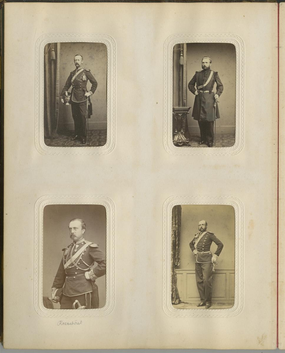 Porträtt av friherre Arvid Fredrik Kurck, officer vid Skånska dragonregementet K 6.
