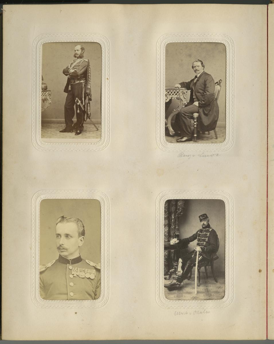 Porträtt av Carl Albrecht Holger Rosencrantz, officer vid Kronprinsens husarregemente K 7. Se även bild AMA.0021604 och AMA.0021662.