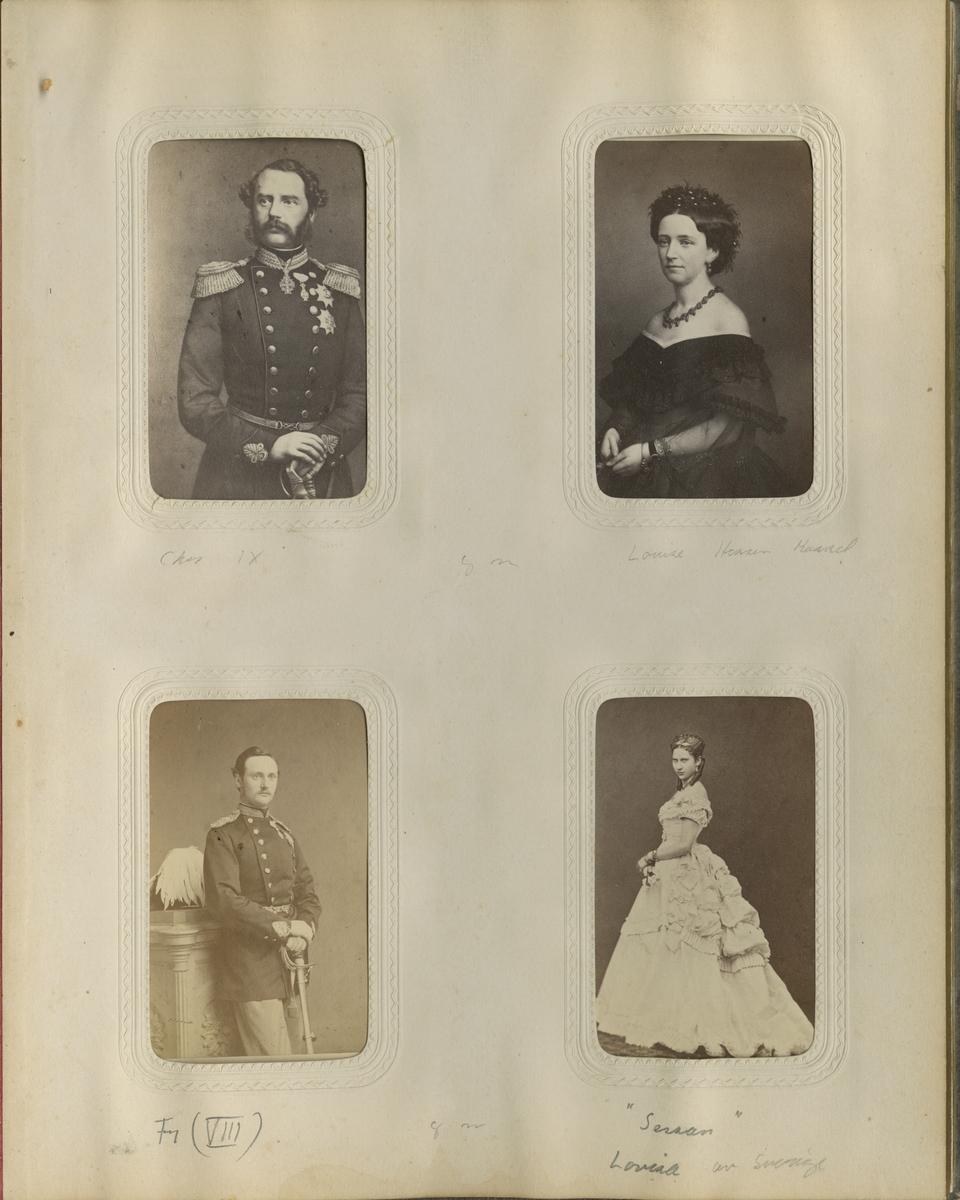 Porträtt av prinsessan Lovisa av Sverige, sedemera drottning Louise av Danmark.