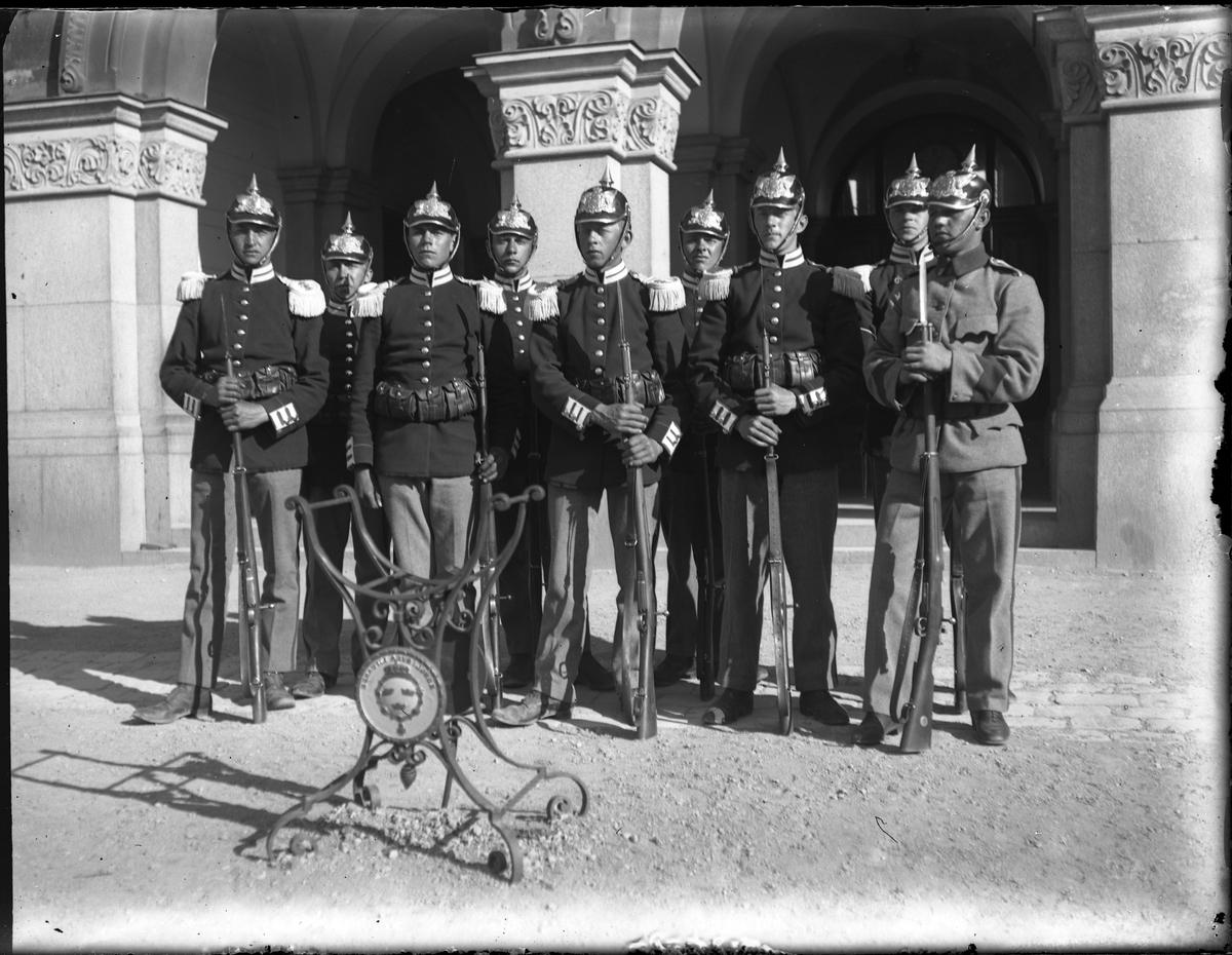 Gruppbild tagen under fotografen Harald Olssons excercistid.