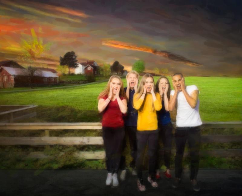 Photo from the photo point at the farm Engelaug Østre in Ådalsbruk, where Edvard Munch was born.