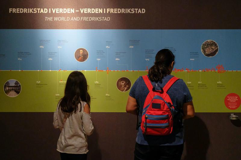 Tidslinje i utstilling på Tøihuset i Fredrikstad