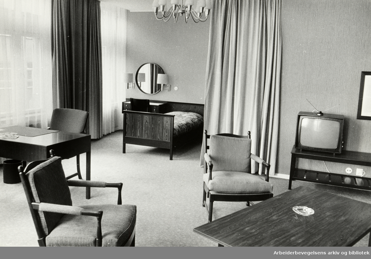 Continental Hotell. Hotellrom. 1966