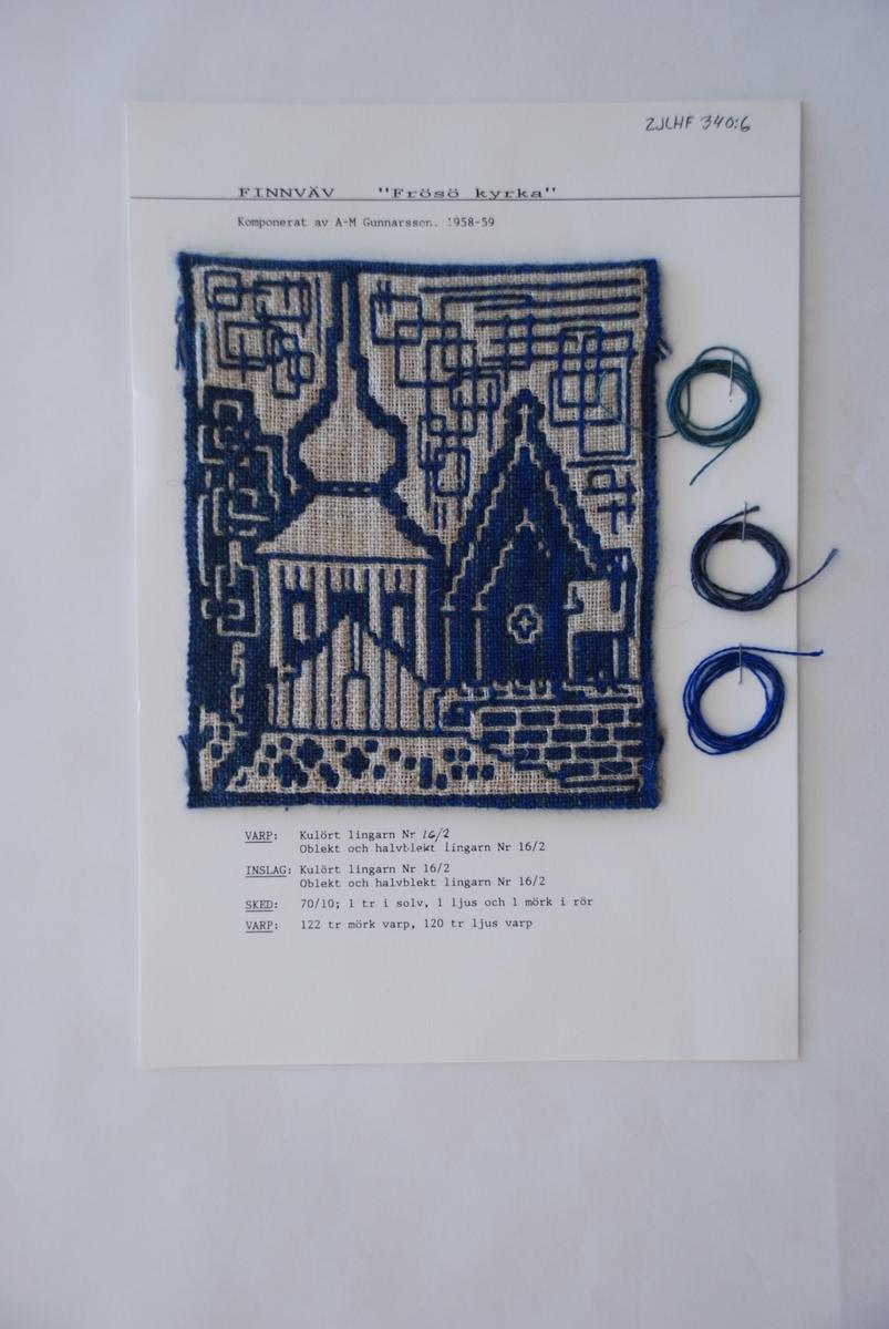 Finnväv komponerad av Ann Mari Gunnarsson.