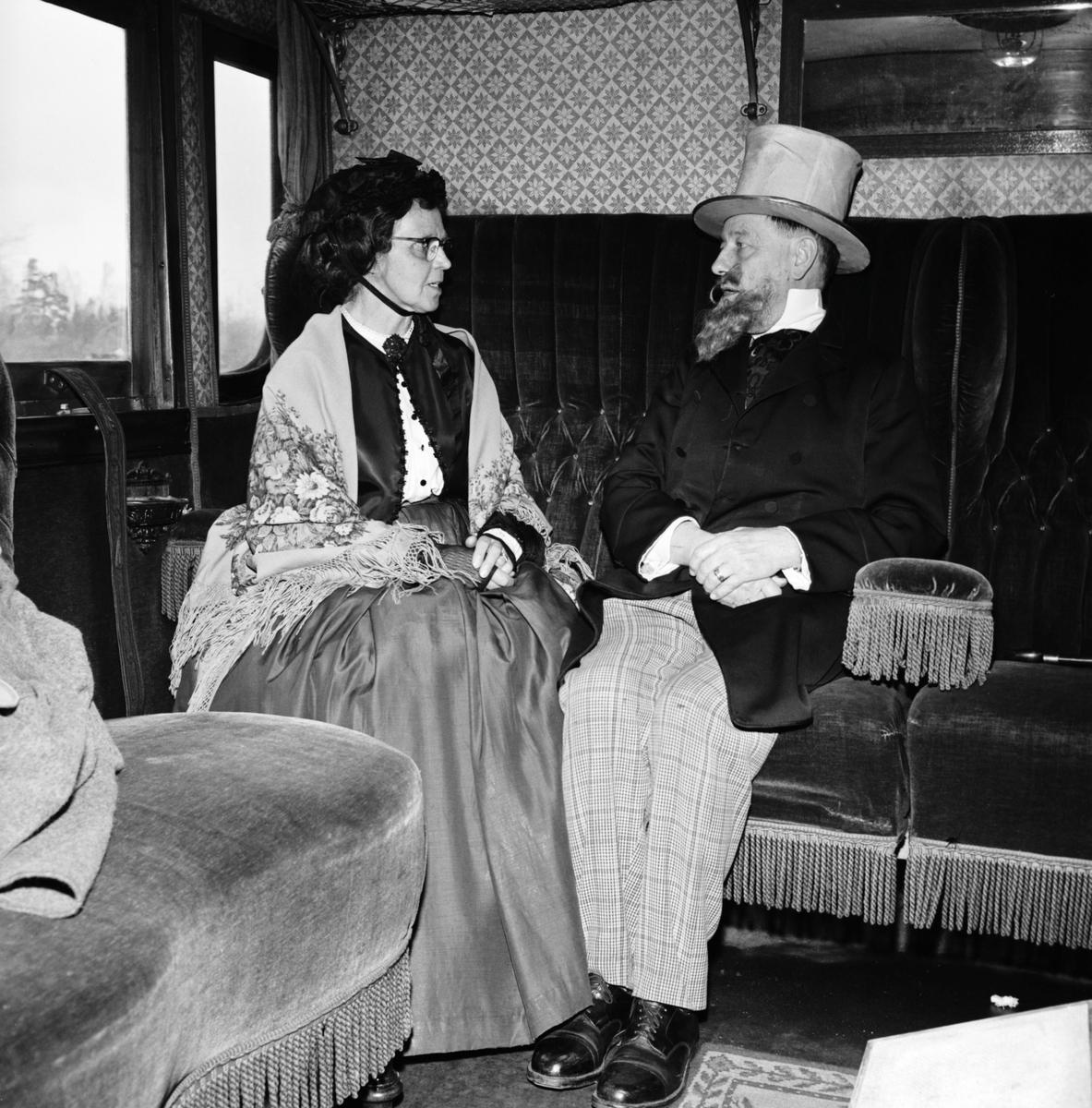 Historiska tågets resa från Stockholm till Göteborg för invigningen av Tåg 62. SJ AB 289