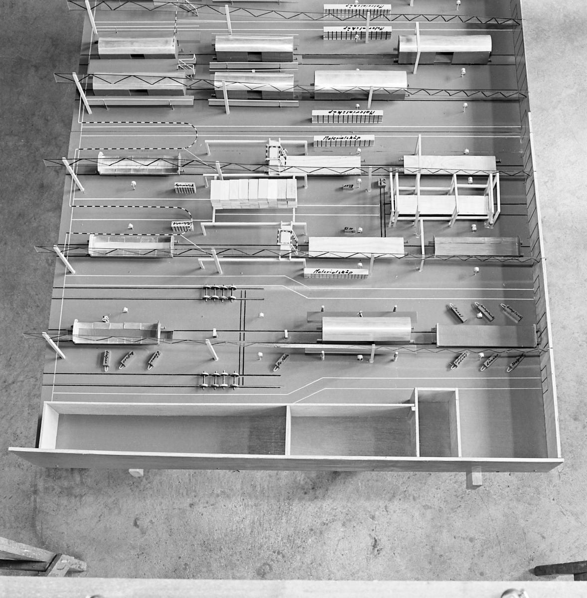 Modell av Fjällbo Huvudverkstad