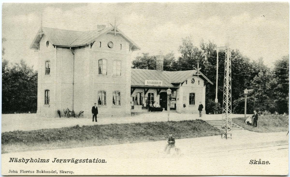 Näsbyholms järnvägsstation.