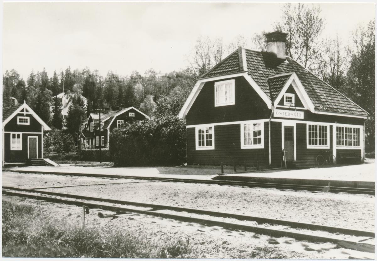 Österskär station, Stockholm - Roslagens Järnväg, SRJ.