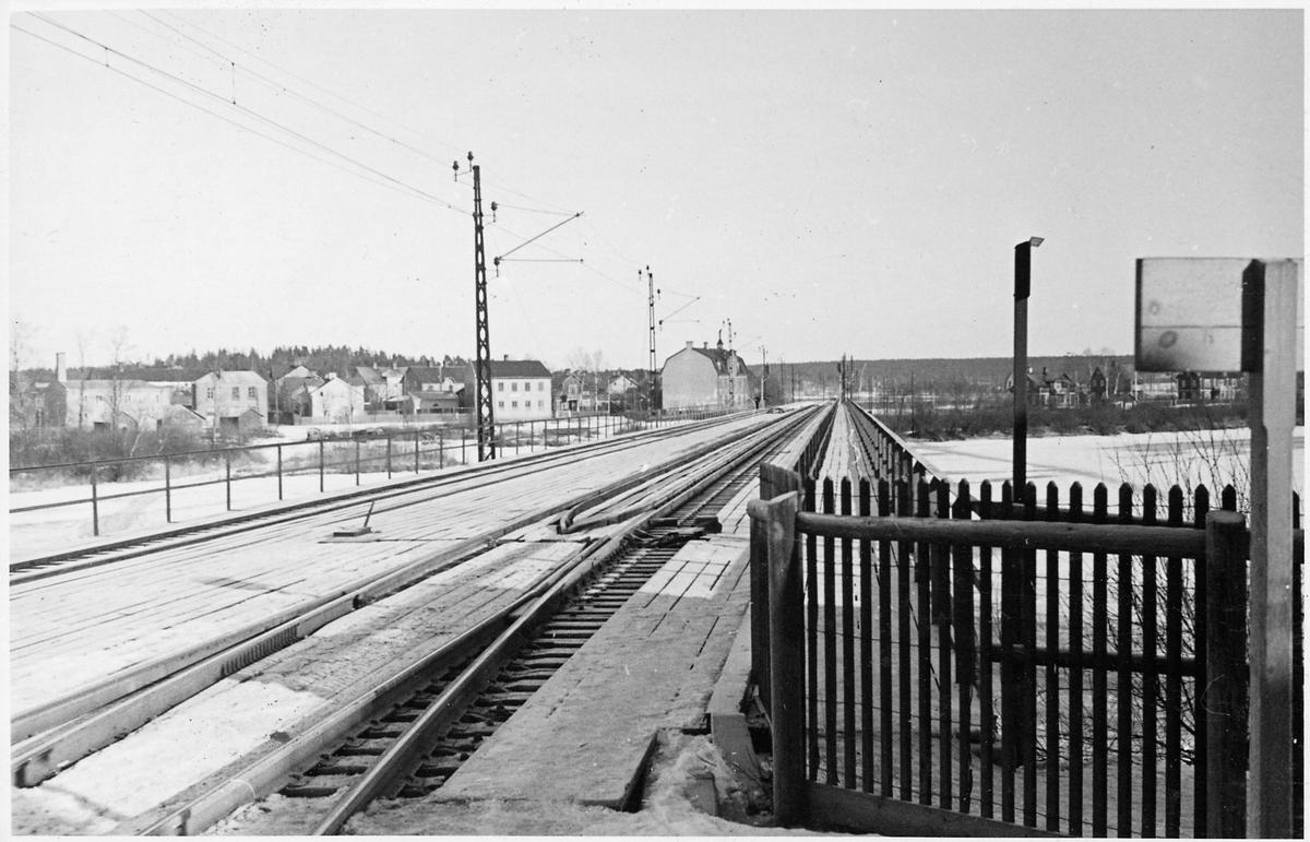 Infart till Karlstad Östra station.