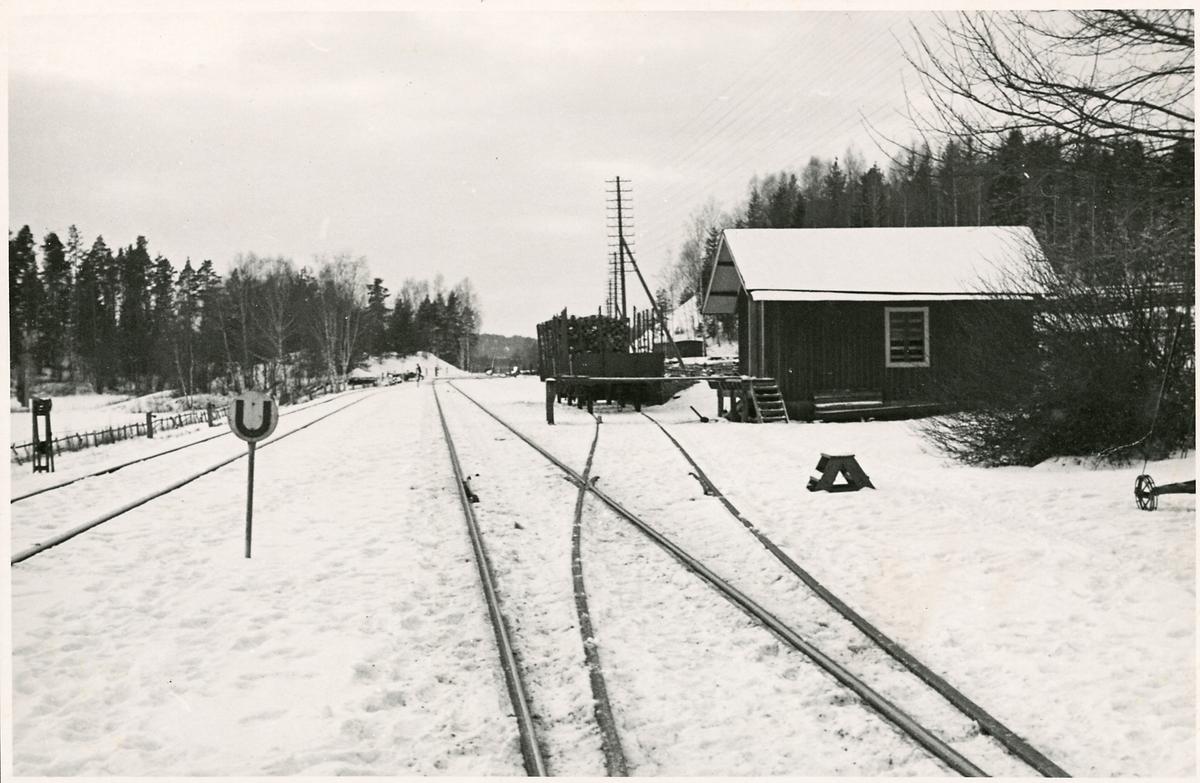 Inför elektrifieringen vid Byringe station.