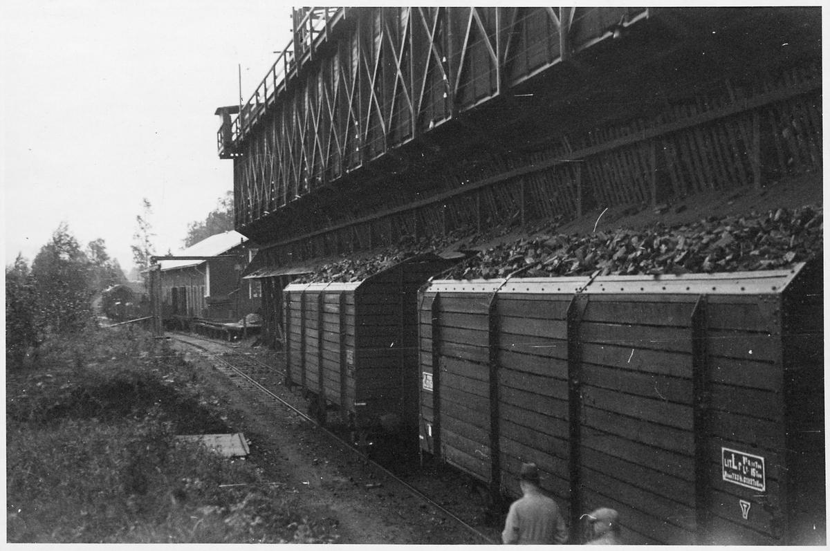Lastplats för träkol, godsvagn Statens Järnvägar SJ Lr.