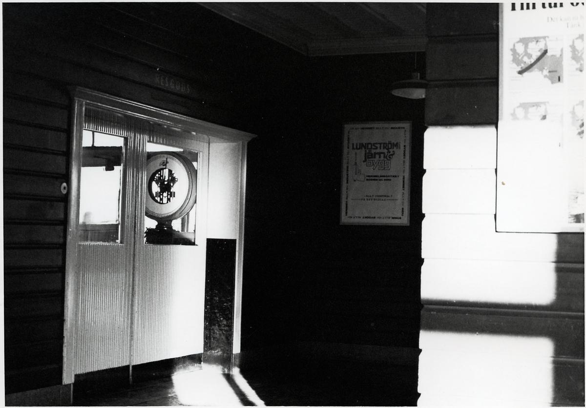 Väntsalen på Bodens station.