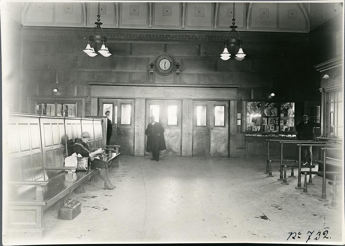 Interiör från stationshuset vid Helsingborg F (färjestation).