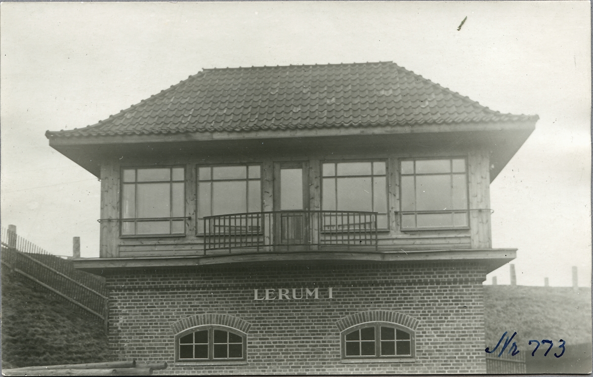 Ställverk vid Lerum station.