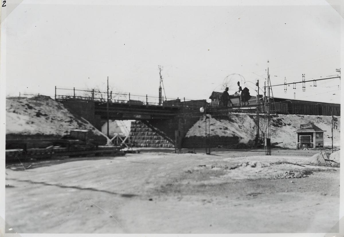Viadukt över Norrtullsgatan, på sträckan mellan Stockholm Norra och Stallmästaregården.