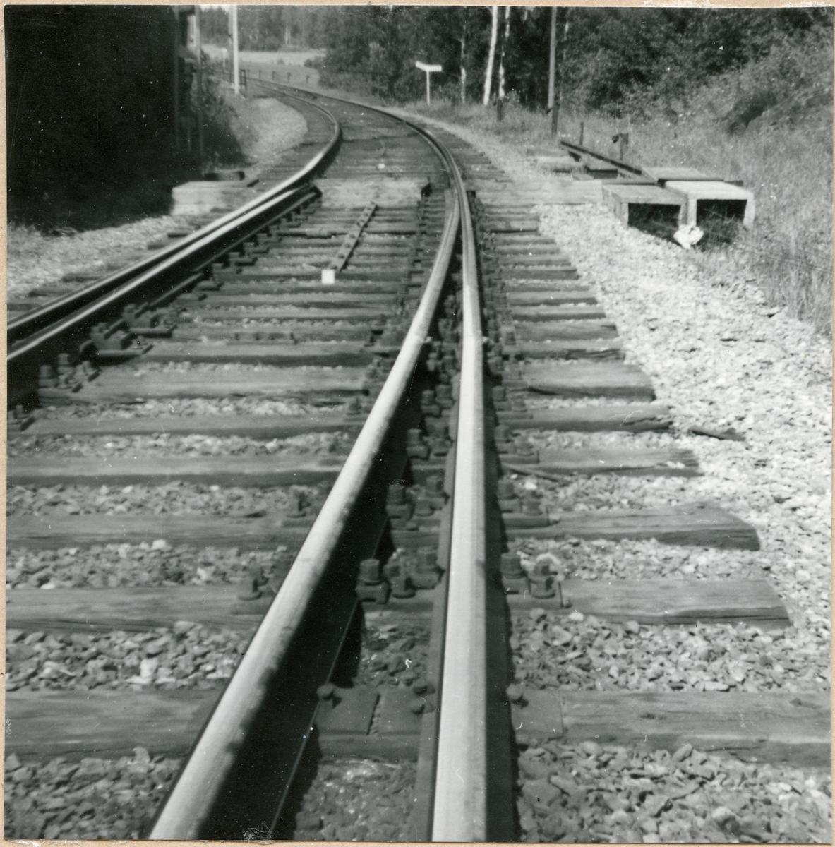 Järnvägsväxel.