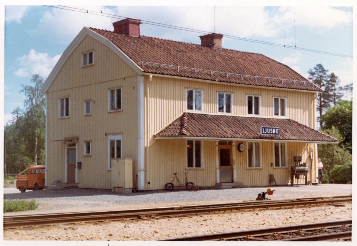 Ljusne station omkring år 1972.