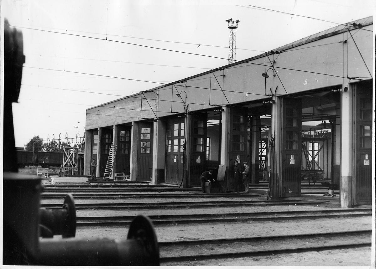 Utvidgat lokstall för lok och motorvagnar vid Malmö central.