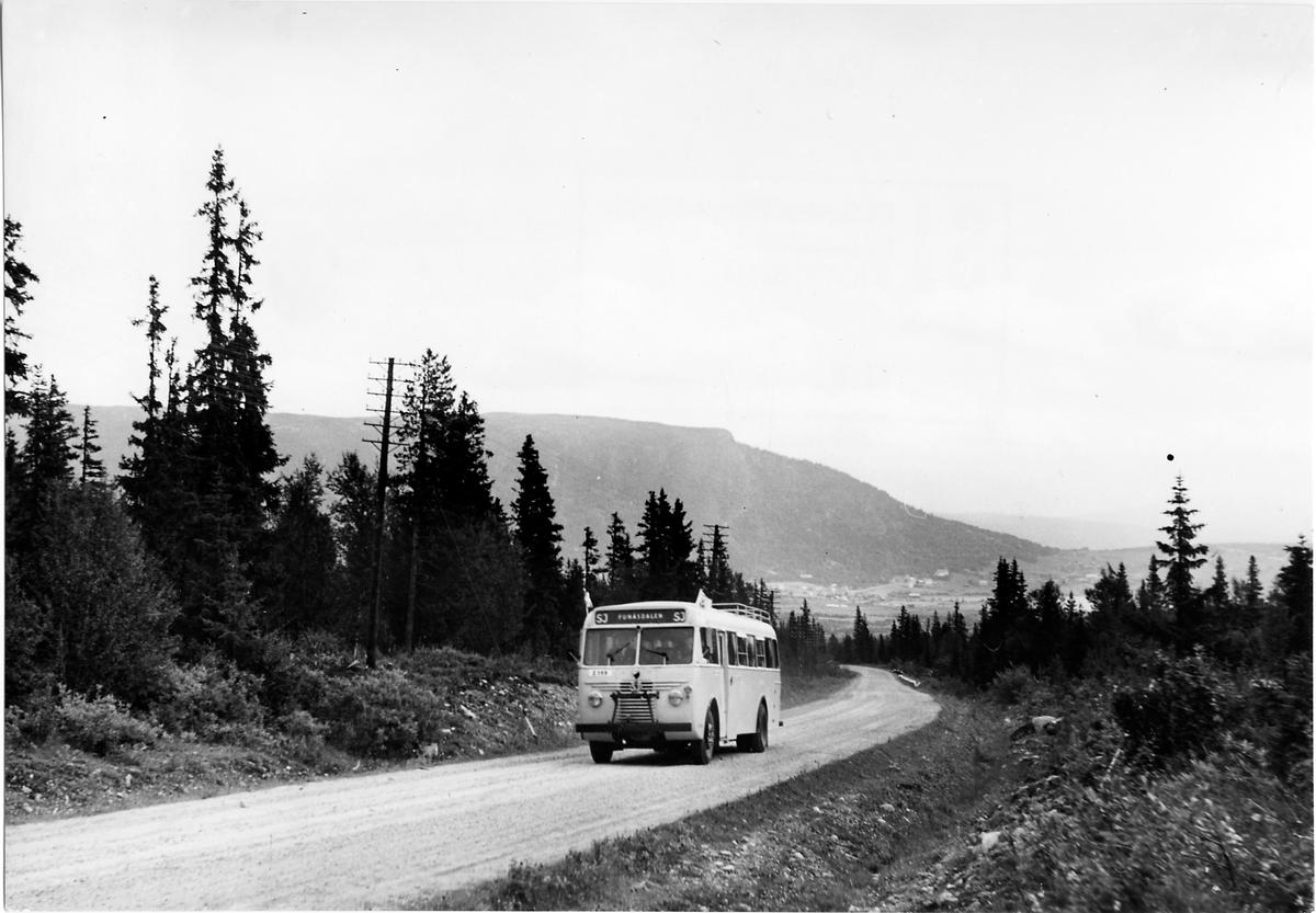 Statens Järnvägar, SJ buss 1393 på vägen mellan Funäsdalen och Tänndalen.