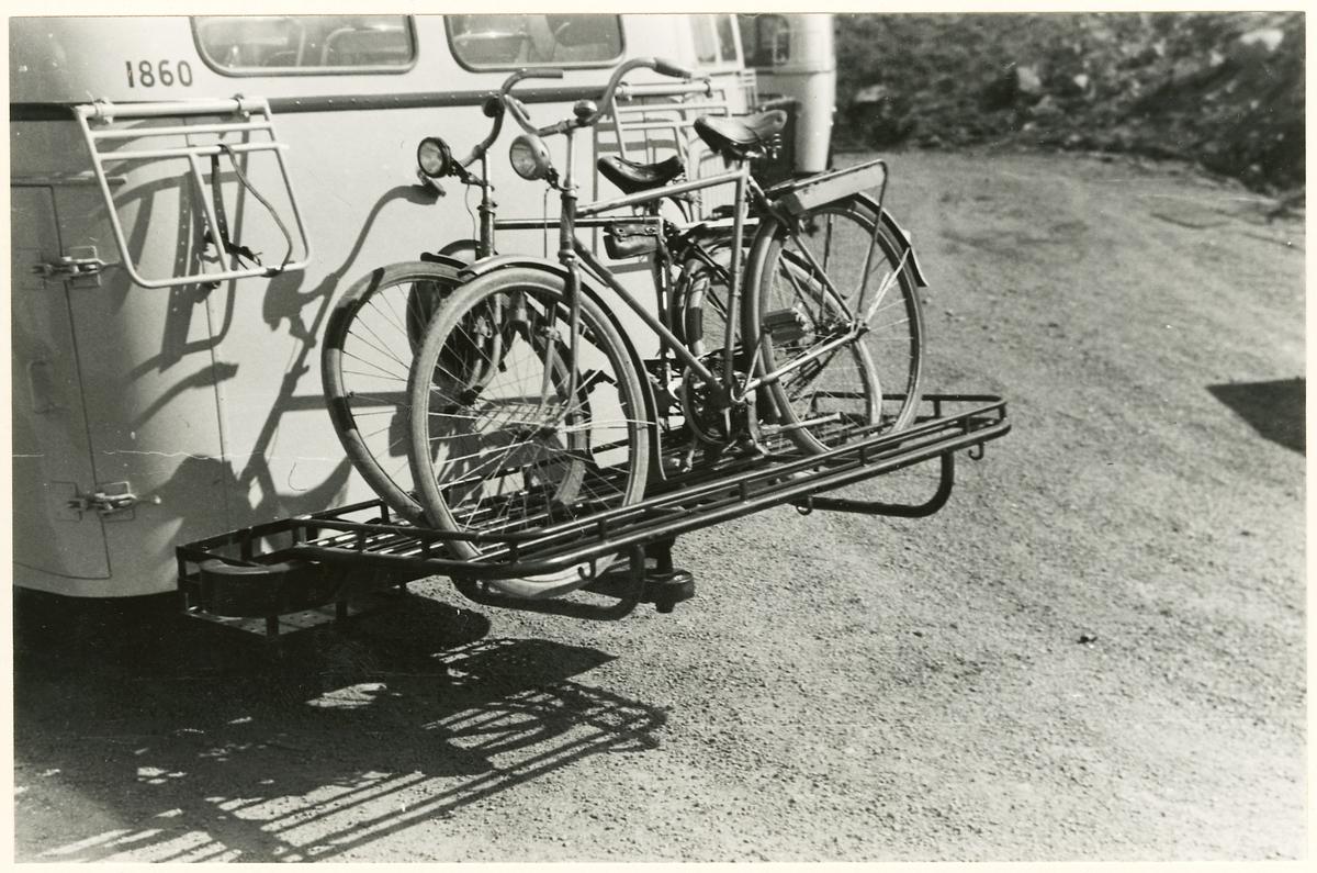 Cykelhållare på Statens Järnvägar, SJ buss 1860.