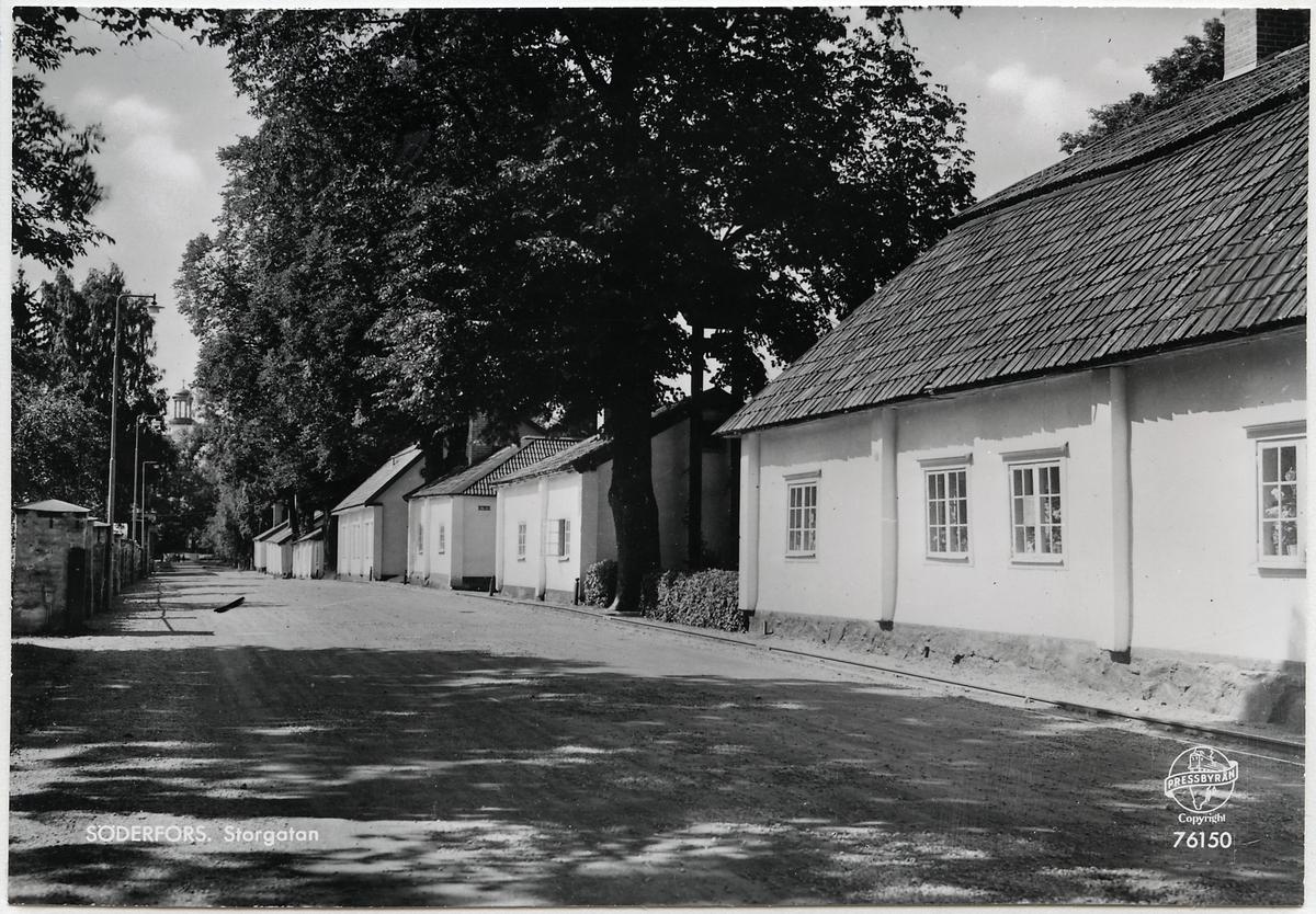 Storgatan i Söderfors.