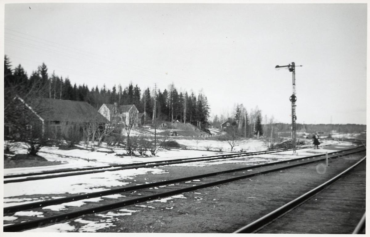 Snyten stations bangård.