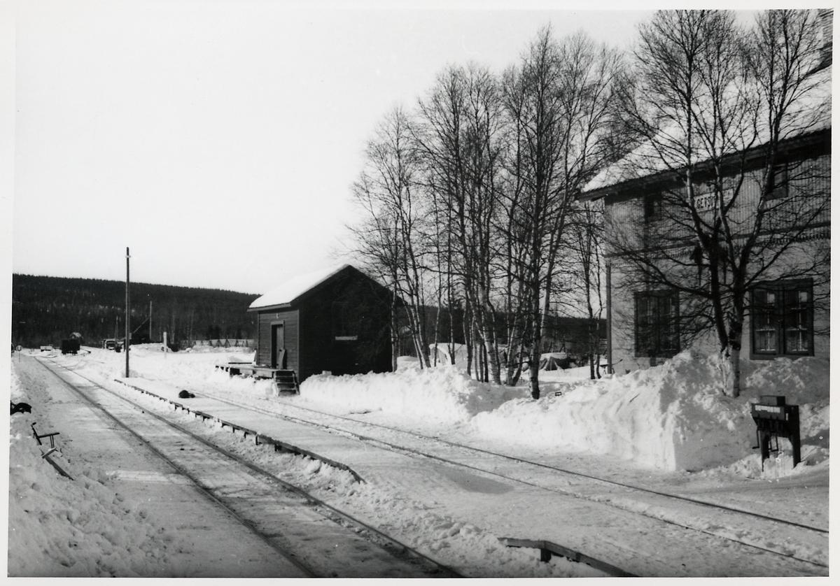 Gevsjön station mot väster.