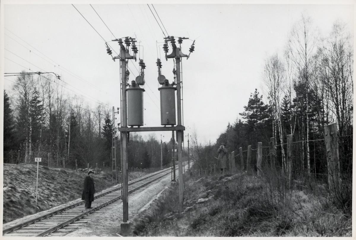 Linjen mellan Borås och Sjömarken. Kilometerstolpe 67.