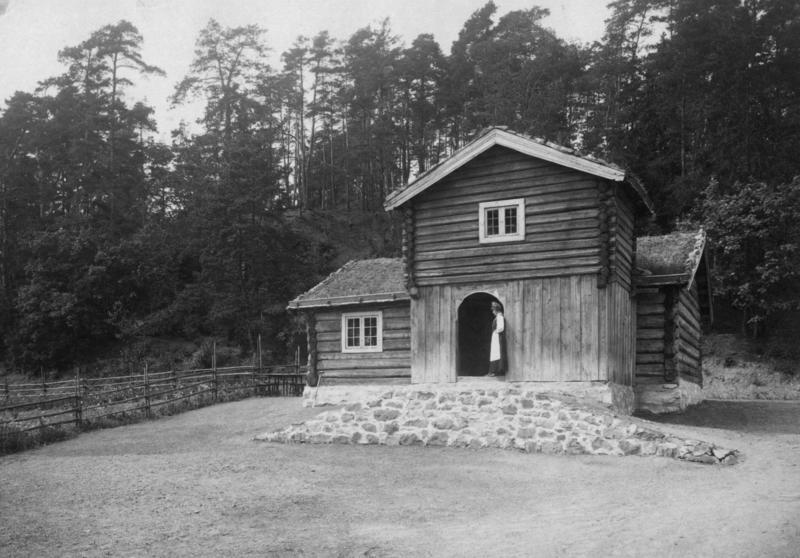 Barfrøstua fra Gammelstu Trønnes i Stor-Elvdal, fotografert i 1907.