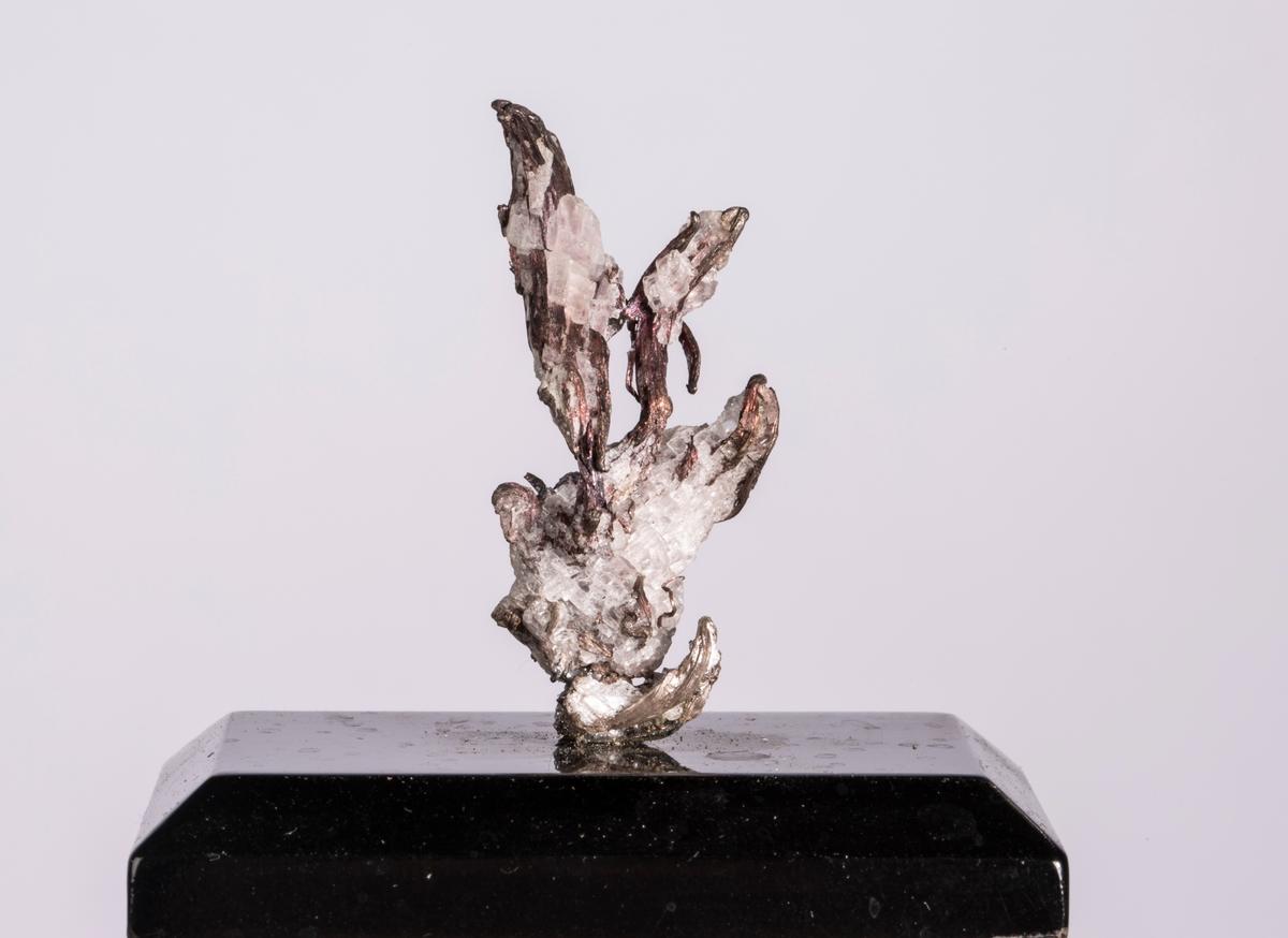 """""""Plante"""" på svart plate Vekt: 21,75 g (med sokkel) Størrelse: 3,9 x 2 x 1,4 cm"""