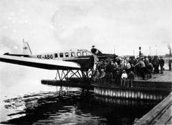 Ivar Kreuger på blixtvisit i Medelpad 1929. Industrimagnaten