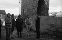 Ruinen av smeltehytta på Røros før oppstart av bygginga av d