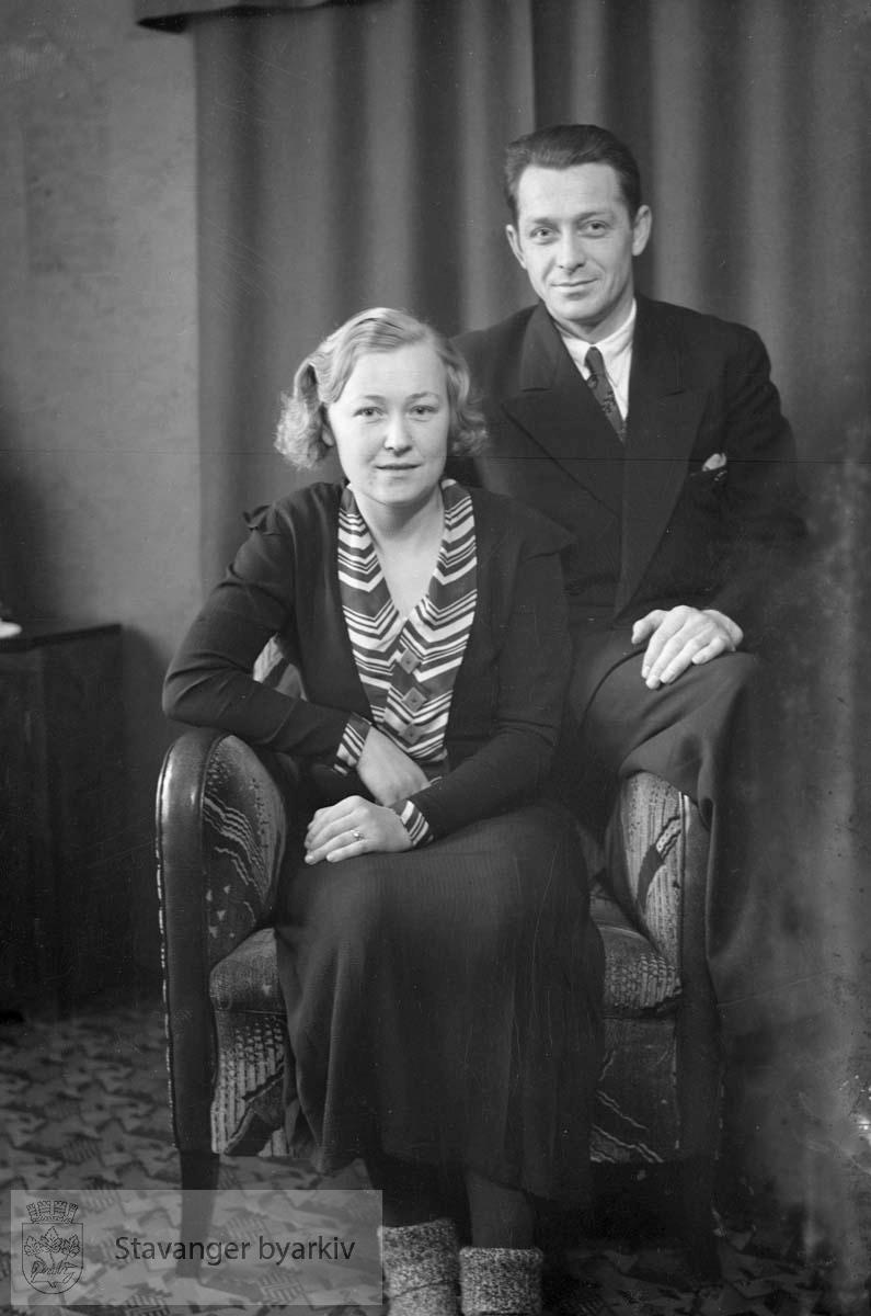 Ingvald Rasmussen med frue. Jørpeland.