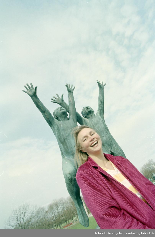 Frognerparken. Victoria Dahr skal lede dugnadsgjeng. 25. april 1995