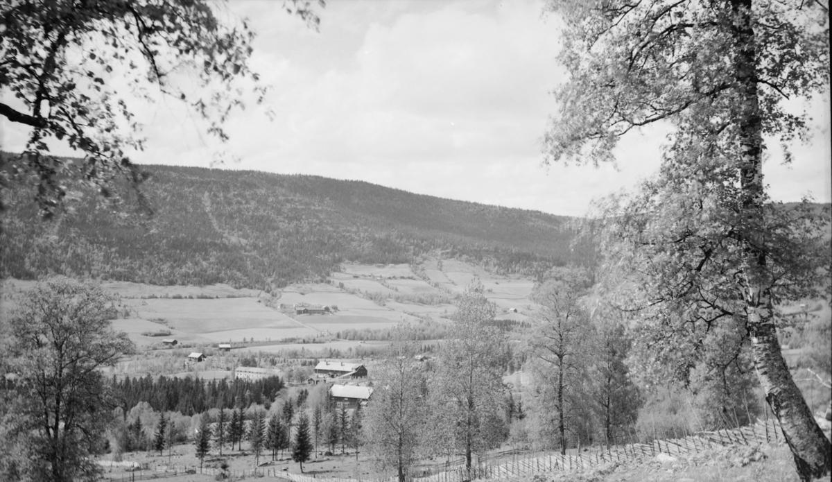 Fra Østre Gausdal med prestegården og Fykse i bakgrunnen