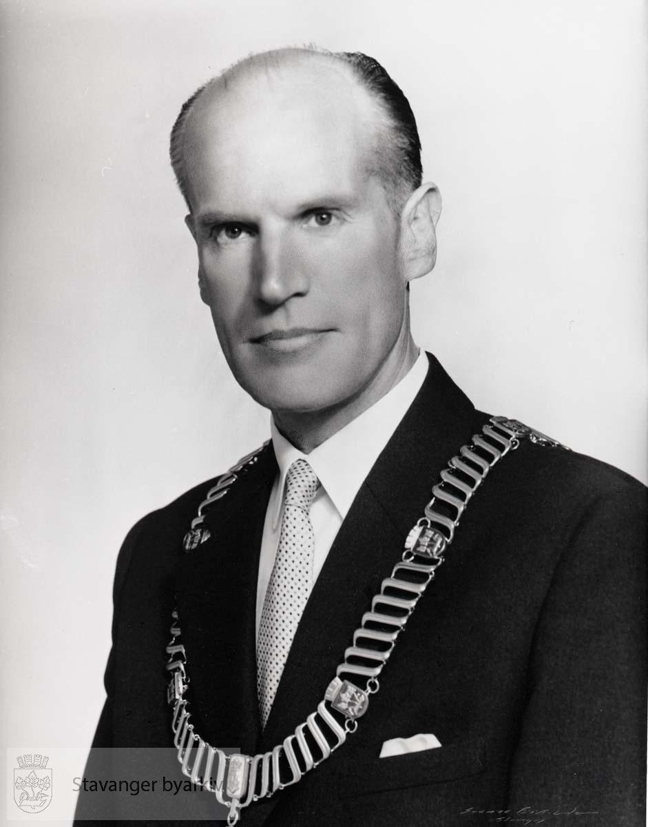 Ordfører i Stavanger 1955. Venstre..Lektor