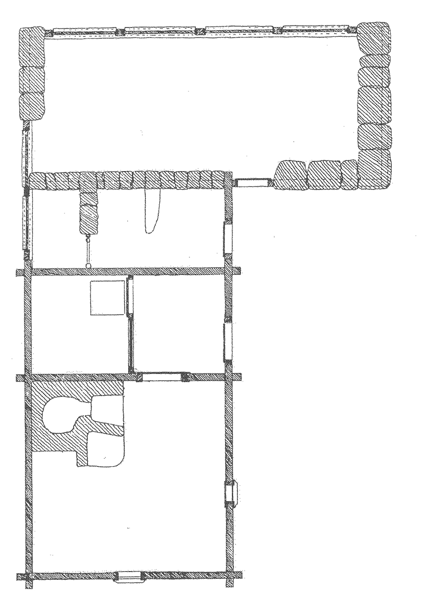 """Hornborgastugan är en L-formad byggnad uppförd i flera byggnadstekniker. Byggnaden består av en bostadsdel; en enkelstuga, en fähusdel samt en lada, sammanbyggda i vinkel. Bostadsdelen och fähuset är timrat. Ladan har väggar av gråsten och skiftesverk. Taket är av halm, på bostadsdelen hålls halmen fast av torv, på ladudelen hålls halmen fast av sk """"poller"""", ett gallerverk av trästörar som hänger över ryggåsen.   Byggnaden flyttades till Skansen 1898 från Hornborga by i Västergötland. Stugan var ett så kallat """"husmansställe"""" under Deragården och låg invid """"Grannasbacken"""", byns allmänna samlingsplats."""