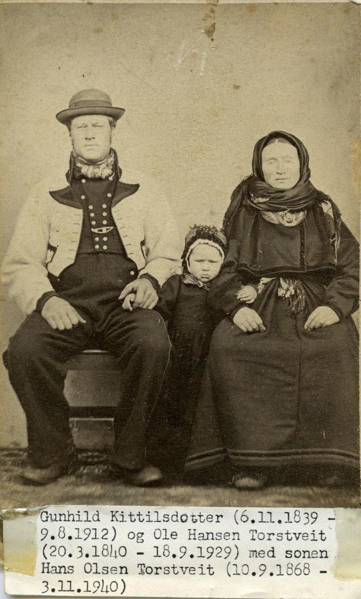 Parfoto av Olav og Gunhild Torstveit