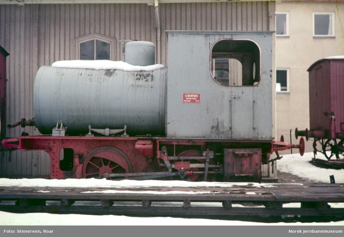 """Fyrløst damplokomotiv """"Geita"""" tilhørende Drammenselvens Papirfabrikker (Union Co.)"""