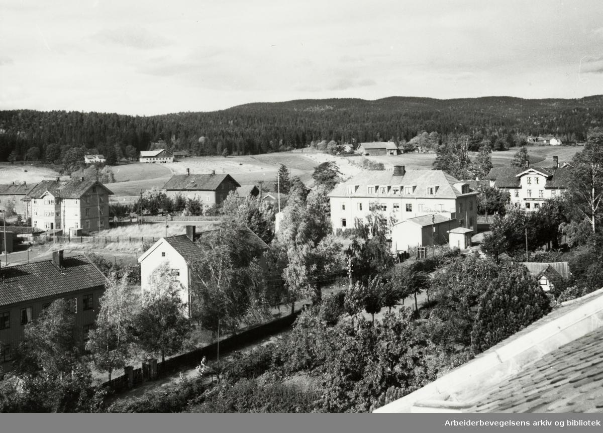 Grorud. Oversikt fra kirken. September 1950