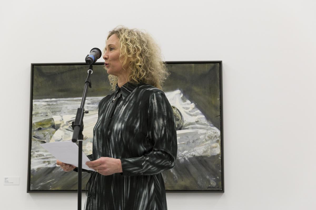 Bilder fra åpningen 23. mars 2019. Åpningstale av Tone Hansen, direktør ved Henie Onstad Kunstsenter. Foto: Christina Undrum Andersen / TKM.