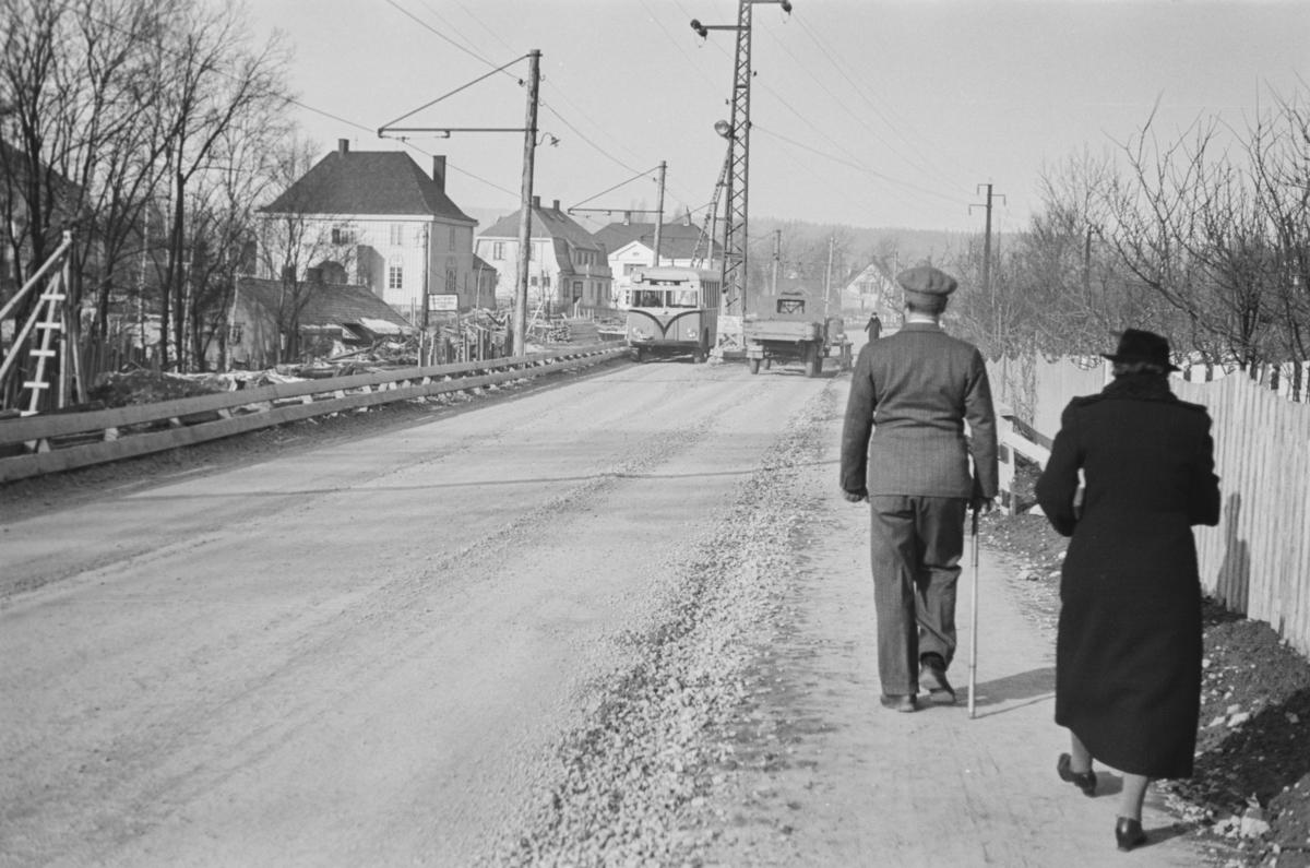 Omleggingen av Røabanen ved Vestre Gravlund og Krematorium i forbindelse med bygging av dobbeltspor.