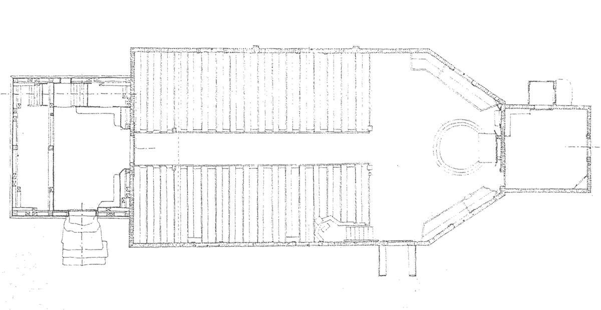 Seglora kyrka på Skansen har ett enskeppigt långhus med tresidigt kor, ett torn i väster samt en sakristia intill korets östra vägg. Grunden är av kallmurad sten. Yttertaket är ett högt och brant sadeltak. Såväl taket som långhusets väggar är klädda med ekspån som rödfärgats. Takets nedersta spånskift är lagt med spetsad spån och i takfallet är ett antal sådana spetsade spån lagda så att de bildar mönster av rombiska rutor. På östra taknocken över koret sitter en järnspira med två klot av koppar och en vindflöjel i form av en tupp.  Tornets grund är av kallmurad sten. Fasaden är klädd med rödfärgad stående panel. Planformen är rektangulär i det nedre partiet, men i höjd med taknocken före övergången till tornhuven är väggarna hopdragna till kvadratisk plan genom karnisformiga takfall. I denna våning finns klockstolar för två klockor samt dubbla gluggar med svartmålade luckor åt alla fyra sidorna. Klockorna kommer från Värings kyrka i Västergötland, en större från 1300-talet samt en mindre, gjuten år 1759. Kyrktornets överdel består av en åttsidig lanternin med målade urtavlor och blindfönster samt allra överst en likaledes åttsidig huv med mjukt svängda takfall. Tornet kröns av en glob med kors av förgylld koppar.