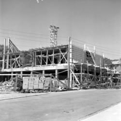 Foto fra byggeplassen til Folkets hus på Kongens plass på Ki
