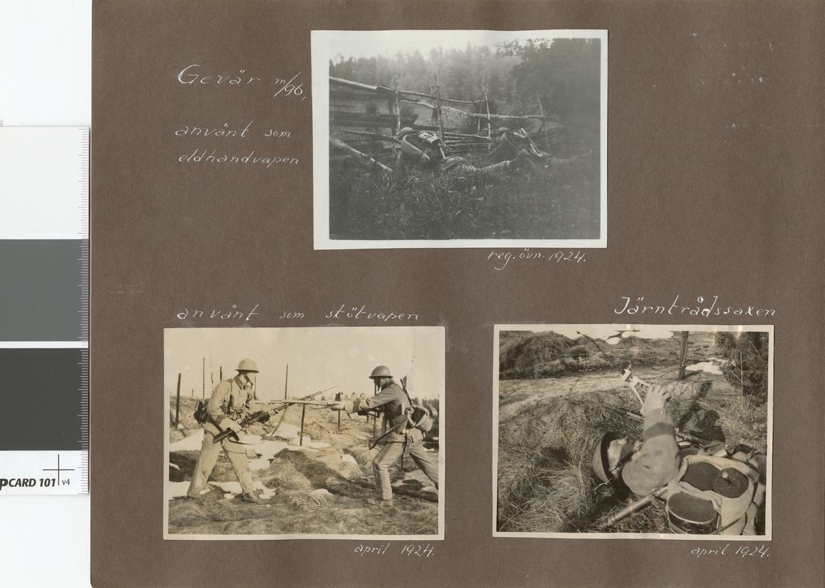 Bilder från stormsoldatskolan våren 1924.