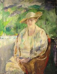Portrett av fru Birgit Heiberg [Maleri]