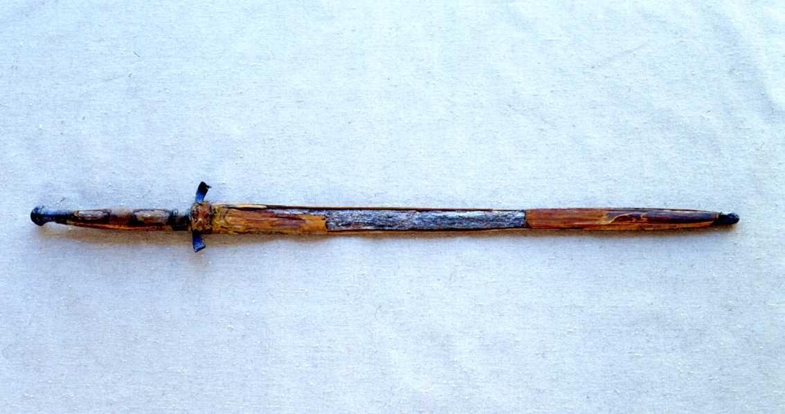 Svärd i sin balja - det så kallade Vätternsvärdet.