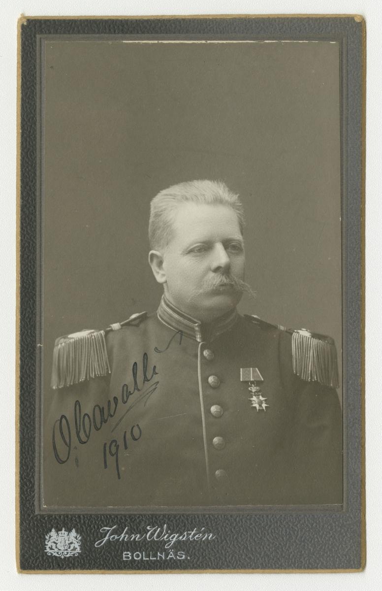 Porträtt av Carl Otto Cavalli, major vid Hälsinge regemente I 14.  Se även bild AMA.0007024, AMA.0007714 och AMA.0009808.