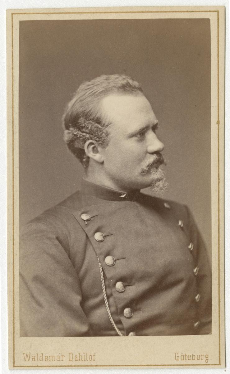 Porträtt av okänd underlöjtnant vid Bohusläns regemente I 17.